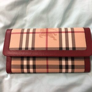 Burberry brand new nova red long wallet
